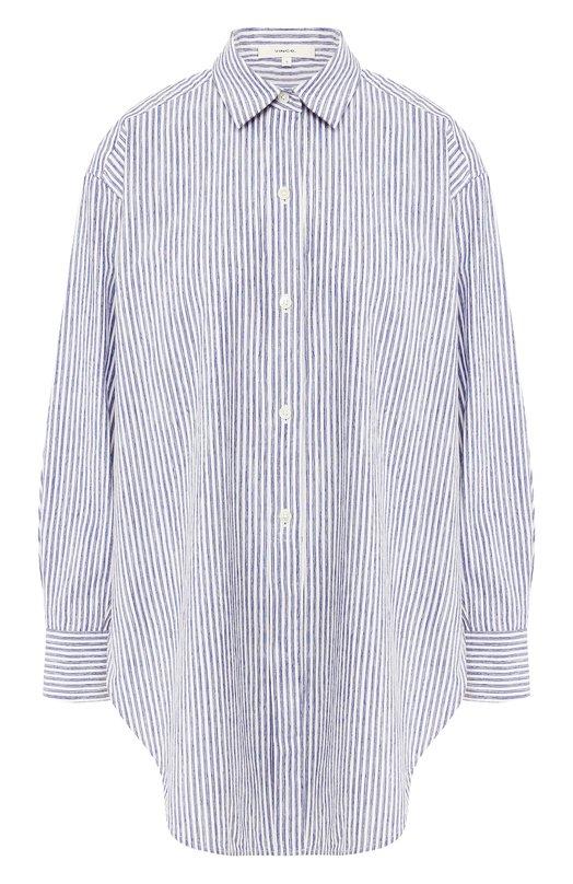 Купить Рубашка из смеси хлопка и вискозы Vince, V570612150, Китай, Голубой, Хлопок: 70%; Вискоза: 30%;