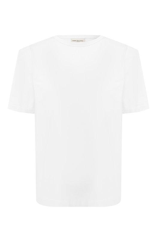 Купить Хлопковая футболка Dries Van Noten, 191-11150-7614, Турция, Белый, Хлопок: 100%;