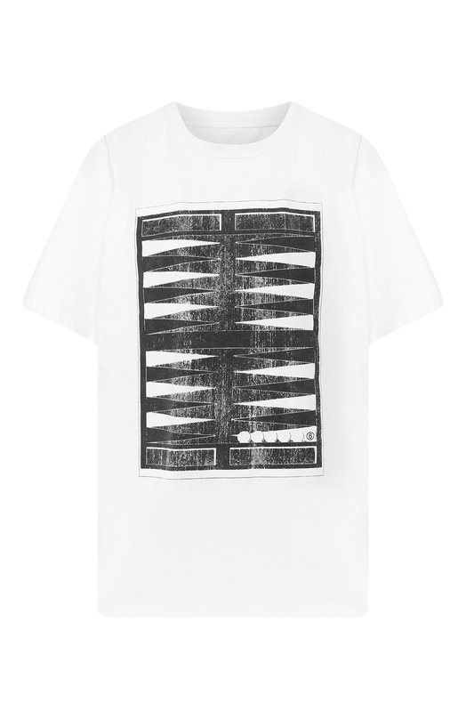 Купить Хлопковая футболка Mm6, S52GC0100/S23082, Румыния, Белый, Хлопок: 100%;