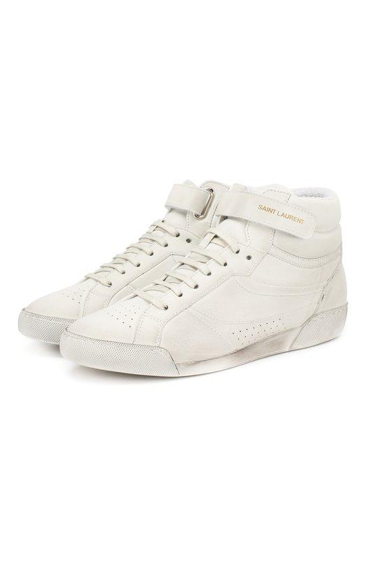 Кожаные кроссовки Lenny Saint Laurent Saint Laurent
