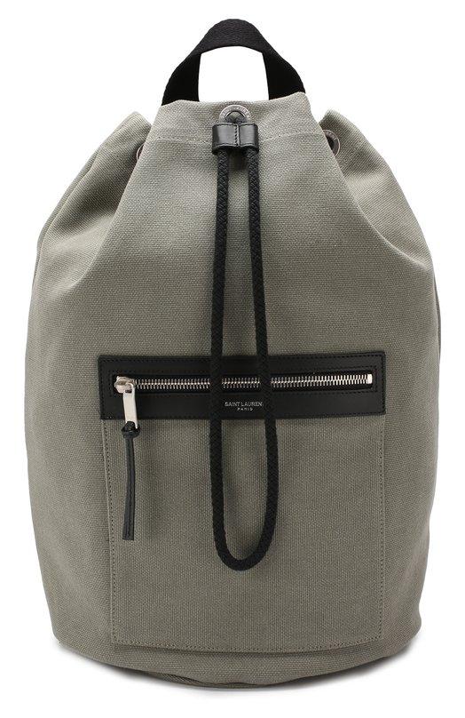Купить Текстильный рюкзак Saint Laurent, 553969/93X6E, Италия, Хаки, Текстиль: 100%;