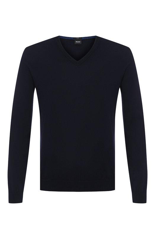 Купить Хлопковый пуловер BOSS, 50403693, Тунис, Темно-синий, Хлопок: 100%;