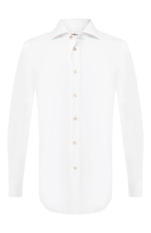 Купить Хлопковая рубашка Kiton, UCIH0682201, Италия, Белый, Хлопок: 100%;