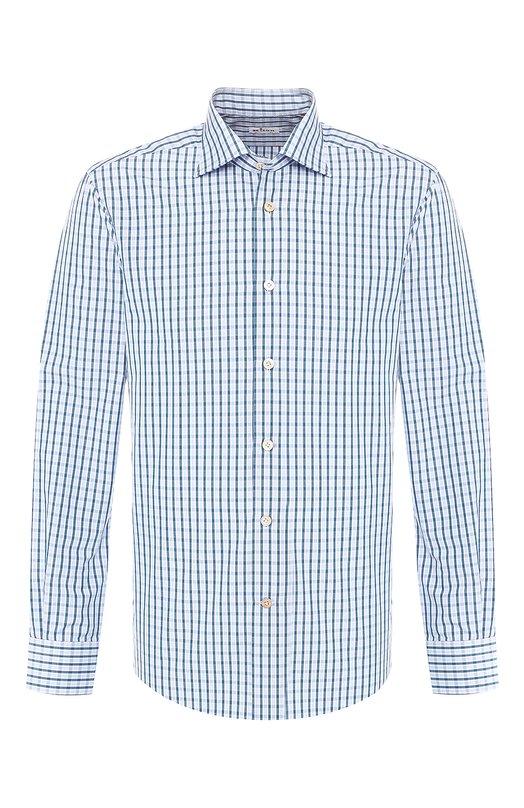 Купить Хлопковая рубашка Kiton, UCIH0694240, Италия, Зеленый, Хлопок: 100%;