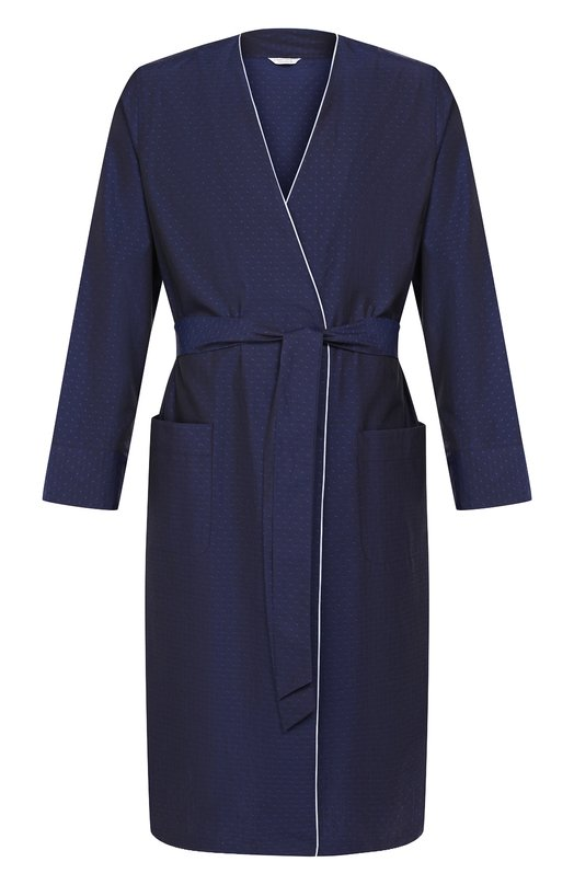 Купить Хлопковый халат Roberto Ricetti, VESTAGLIA K0S/0R0F2201, Италия, Темно-синий, Хлопок: 100%;