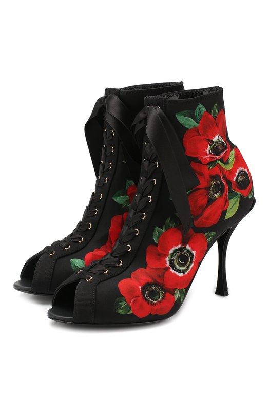 Текстильные ботильоны Bette Dolce & Gabbana Dolce & Gabbana