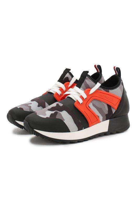 Кроссовки на шнуровке Moncler Enfant
