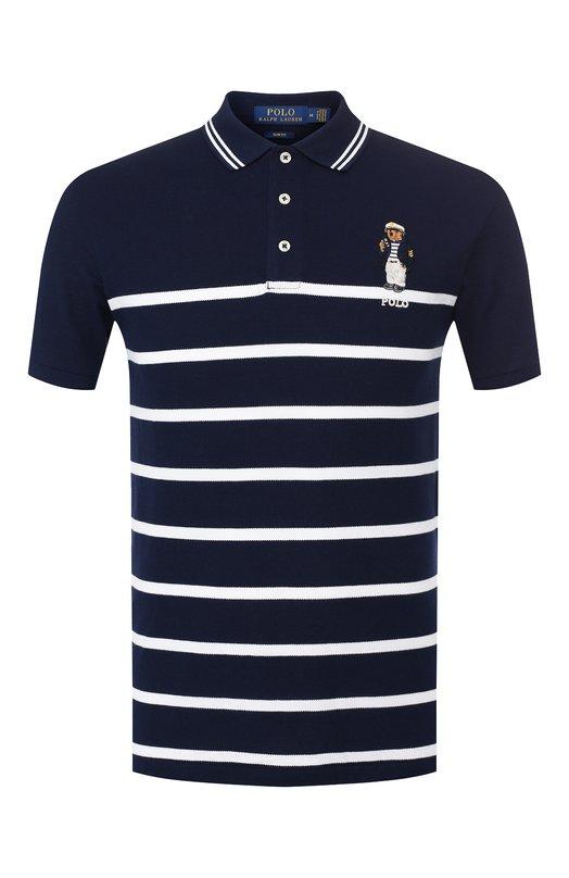 Купить Хлопковое поло Polo Ralph Lauren, 710752707, Филиппины, Темно-синий, Хлопок: 100%;