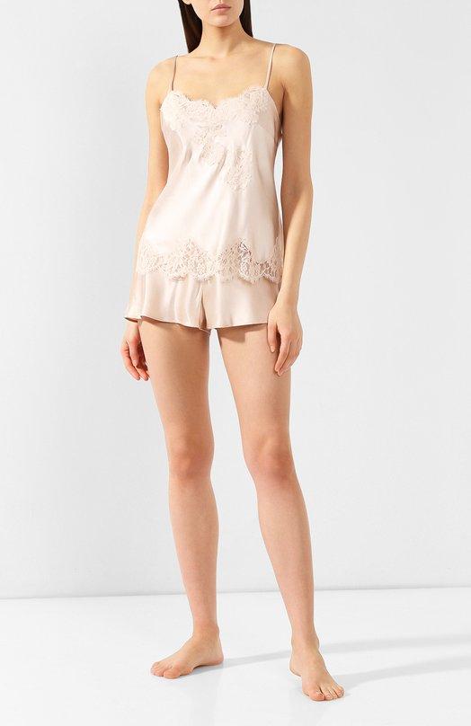Купить Шелковая пижама Marjolaine, 3FLA4003-3SOI5003, Франция, Бежевый, Щелк: 100%;