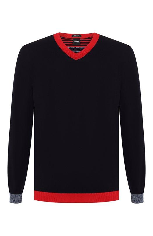 Купить Хлопковый пуловер BOSS, 50403624, Турция, Темно-синий, Хлопок: 100%;