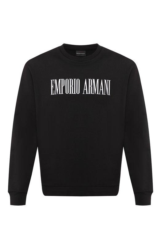 Хлопковый свитшот Emporio Armani