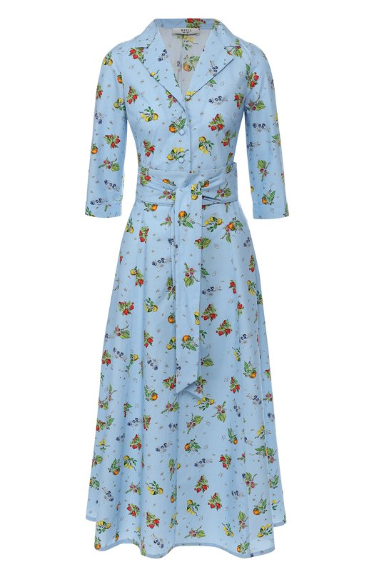 Купить Платье с поясом Weill, 105108, Польша, Голубой, Хлопок: 100%;