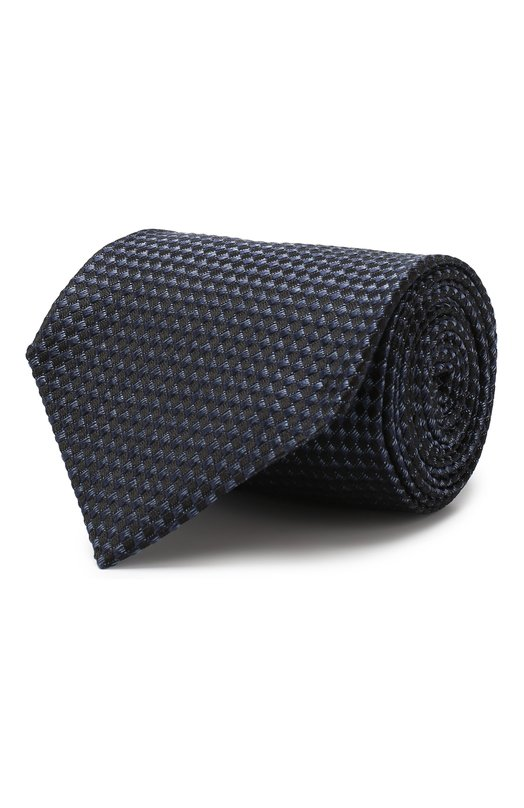 Купить Шелковый галстук Tom Ford, 5TF23/XTF, Италия, Темно-синий, Шелк: 100%;