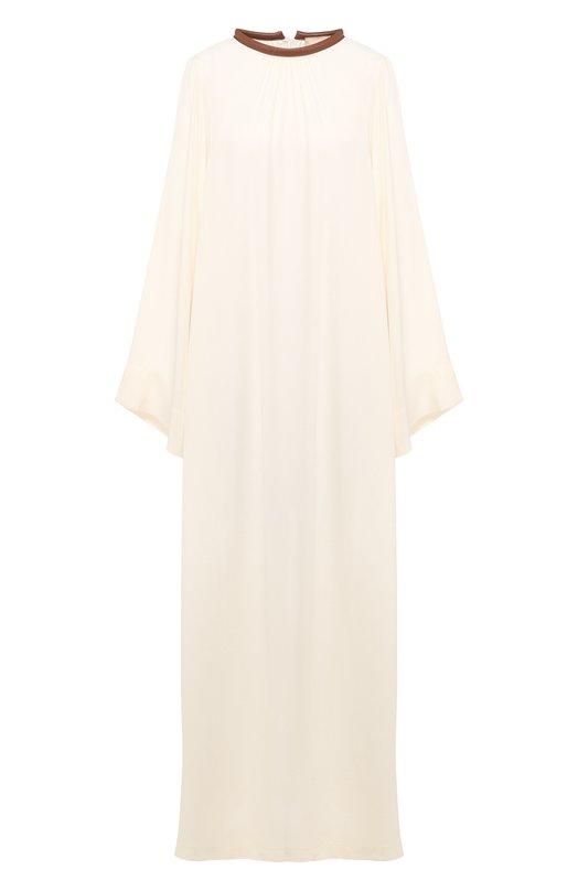 Купить Платье свободного кроя Erika Cavallini, P9/E/E9PP06, Италия, Бежевый, Вискоза: 100%; Отделка-кожа: 100%; : 100%;