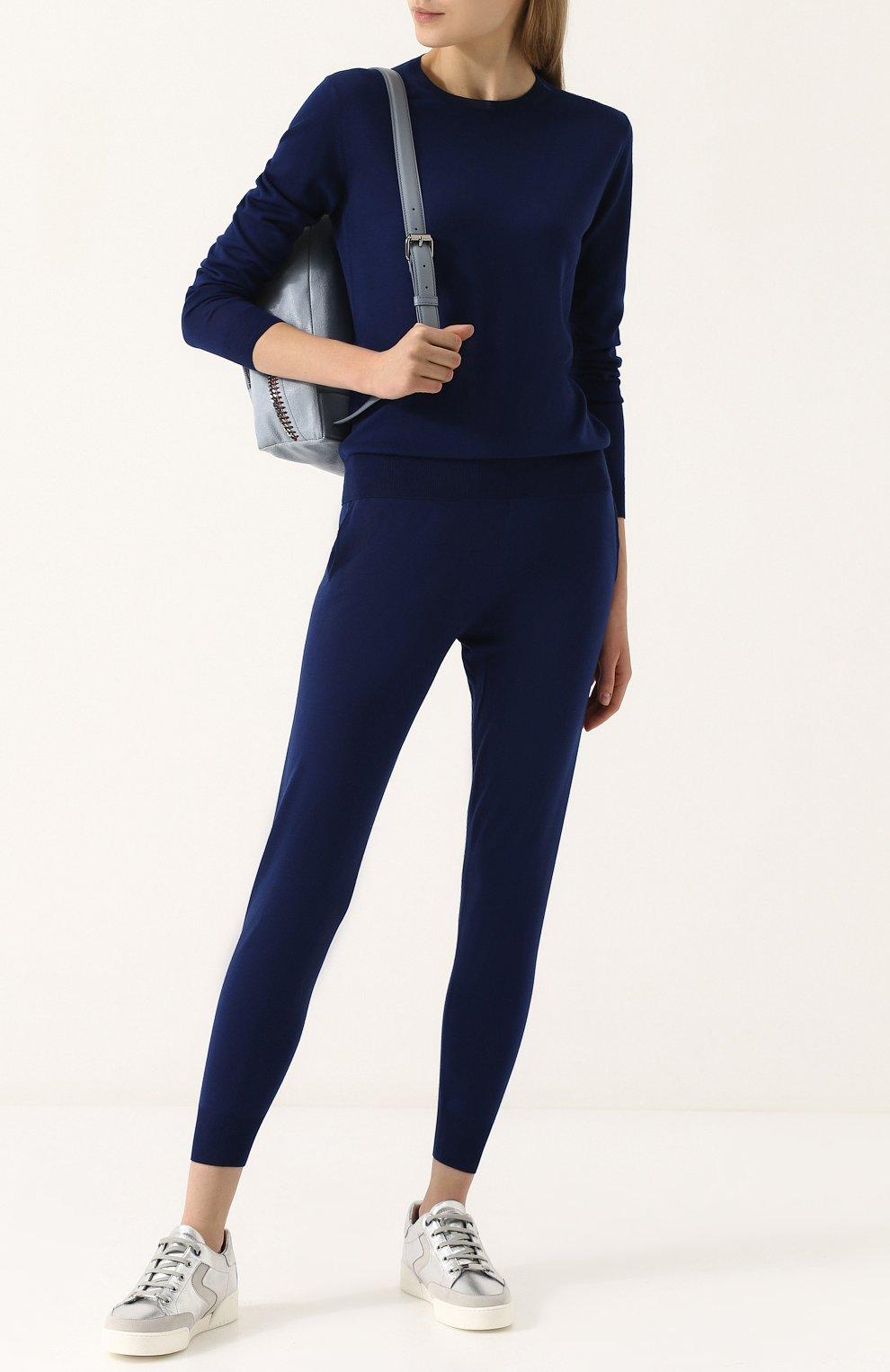 Шерстяной пуловер женский